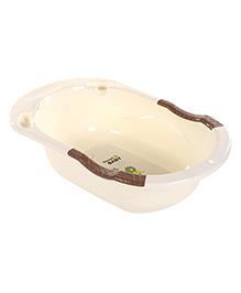 Baby Bath Tub With Sweet Baby Print - Cream