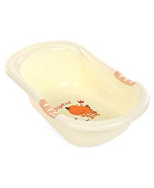 Baby Bath Tub Animal Print - Cream
