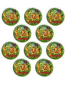 Party Propz Jungle Theme Paper Plates Green - 10 Pieces