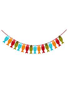 Party Propz Happy Birthday Fish Banner - Multicolour