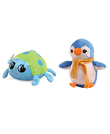 Skylofts Penguin & Beetle Soft Toy Multi Colour Pack Of 2 - Height 20 Cm