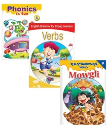 Macaw Pack Of 3 Books - Phonics Is Fun - English Grammar For Young Learners Verbs - Keywords With Mowgli