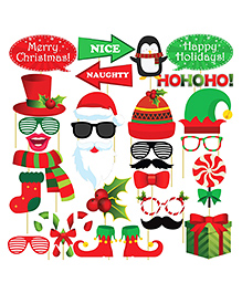 Party Propz Christmas Photo Booth Props - 29 Pieces - 2450505