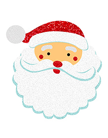 Party Propz Santa Claus Face Cutout - Red