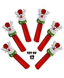 Party Propz Santa Claus Slap Bracelet Wristband - Set Of 12