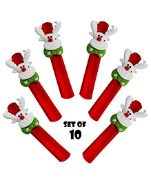 Party Propz Santa Claus Slap Bracelet Wristband - Set Of 10