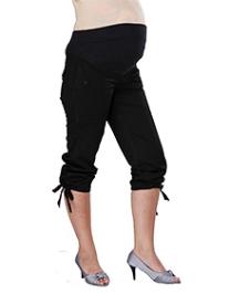 Morph Maternity Black Casual Capri