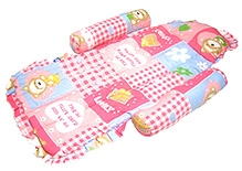 Little's Compact Baby Bed Teddy Bear Print Pink