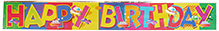 Party Anthem Happy Birthday Plane Foil Banner - 6 Inches