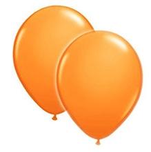 Wanna Party Orange Latex Balloon - 20 Pieces