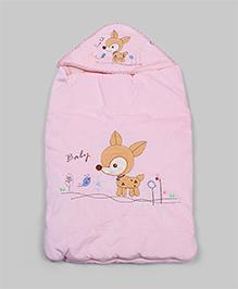 Light Pink Deer Hoodie Sleeping Bag