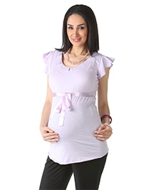 Morph Maternity Top Short Sleeves - Knitted Cotton
