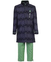Active Kids Wear Kurta And Pajama - Printed - 3 Months
