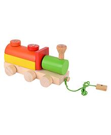 Skillofun Wooden Pull Along Shape Sorter Engine - Multicolour