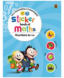 Sticker Book Of Maths Counting 1 To 10 - English