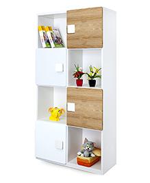 Alex Daisy Wooden Bookcase Four Layer - Oak