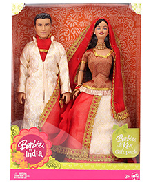 Barbie In India Barbie And Ken Gift Pack - Red