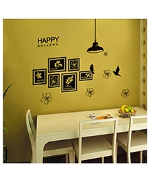Studio Briana Black Vinyl Family Photo Frames Urban Wall Art Sticker
