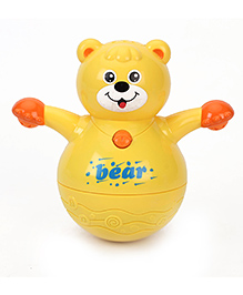 Kumar Toys Bear Roly Poly Toy - Yellow