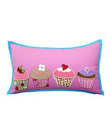 Little Pipal Cupcake Design Cushion - Pink