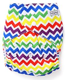 Babyhug Free Size Reusable Cloth Diaper With Insert Chevron Print - Multicolor