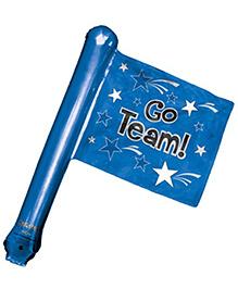 Planet Jashn Go Tea Rally Flag Foil Balloon - Blue