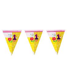 Funcart Fun At 1 Theme Triangular Flag Banner