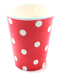 Funcart Red Polka Dot Party Beverage Cups - 9 Oz