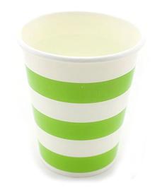 Funcart Green Sailor Stripe Party Beverage Cups - 9 Oz