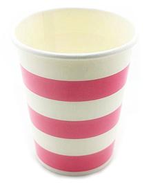 Funcart Pink Sailor Stripe Party Beverage Cups - 9 Oz