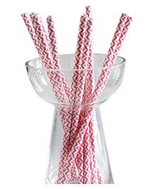 Funcart Paper Straws - Pink