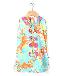 Chic Girls Printed Top - Multicolour