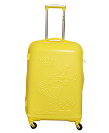 Disney Winnie The Pooh Trolley Bag Embossed Design A - Yellow