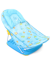 Mastela Deluxe Baby Bather Sea Animals Print - Blue