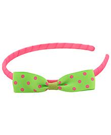 Pikaboo Hair Band Bow Applique - Light Green