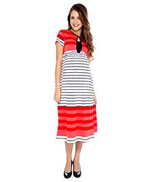 Nine Maternity Casual Dress Striped - Multicolor