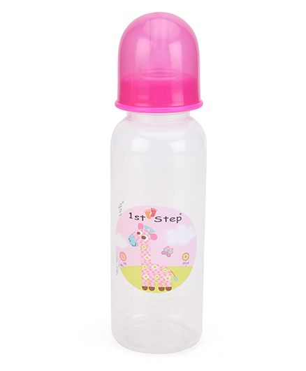 1st Step Feeding Bottle White Pink - 250 Ml