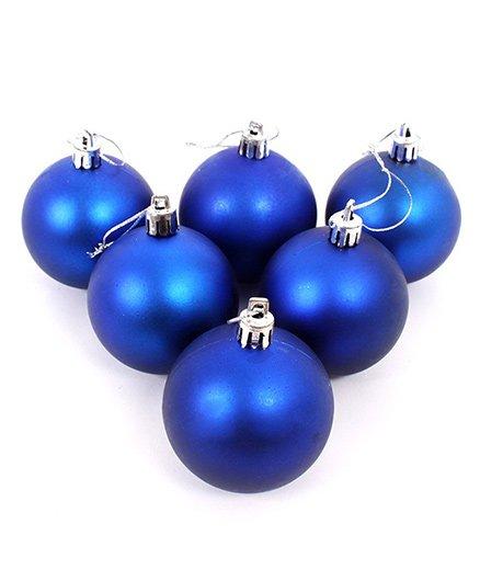 Funcart Christmas Decor Balls Set Of 6 - Blue