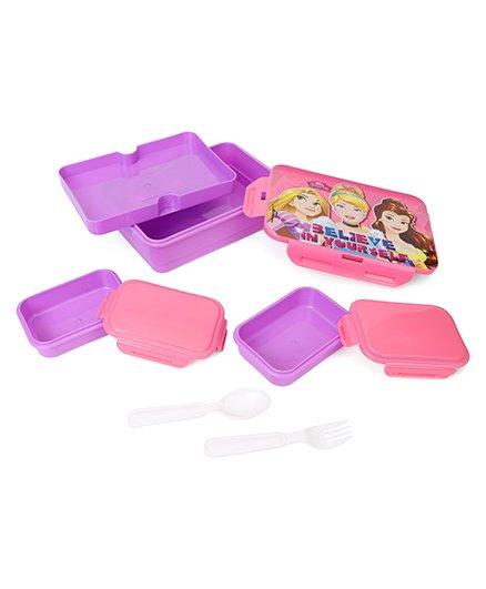 Disney Princess Lunch Box - Pink Purple