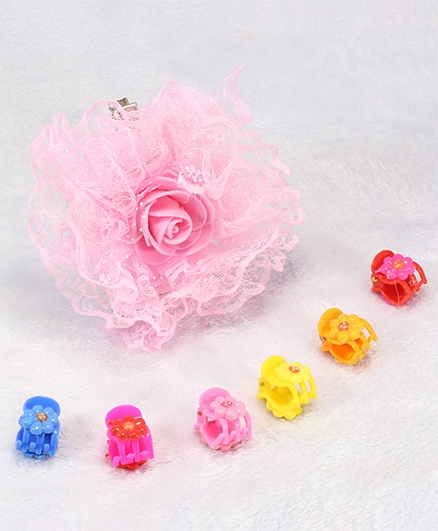 Pihoo Hair Clip & Butterfly Clip Combo - Multi Color & Pink