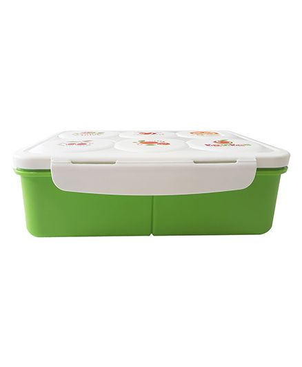 Little Jamun Eco Friendly Lunch Box With Spoon - Green