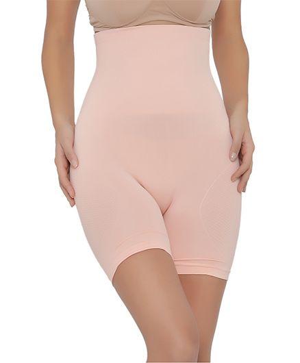 Clovia 4-In-1 Tummy Back Thigh & Hips Shaper - Light Pink