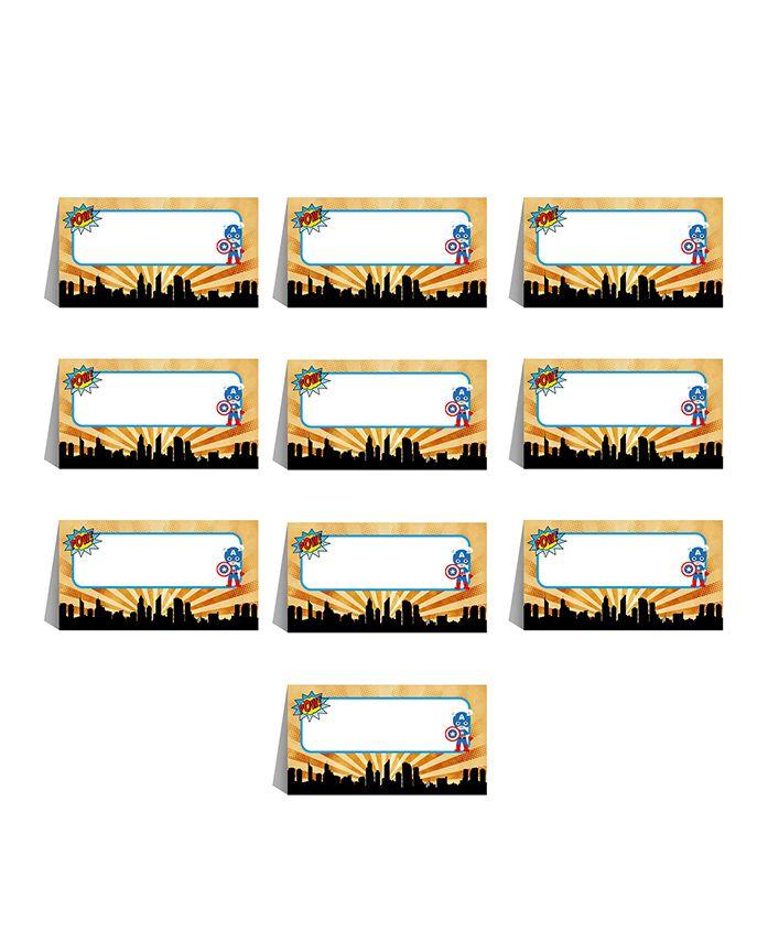Party Propz Superhero Theme Menu Cards Multicolour - Pack Of 10