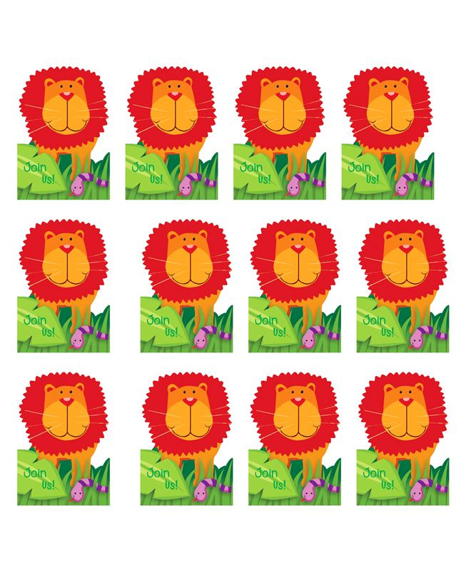Party Propz Jungle Theme Thank You Tag Red & Green - 12 Pieces