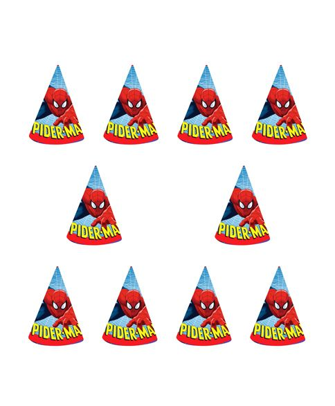 Party Propz Spiderman Theme Cap(Set Of 10) / Spiderman Party Supplies