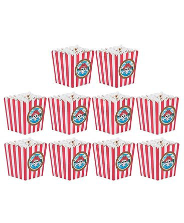 Party Propz Pirate Themed Popcorn Box Red - Pack Of 10